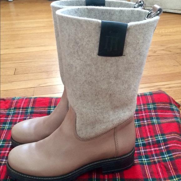 Ilse Jacobsen 7.5 Ruby 461 Leather & Felt Boots